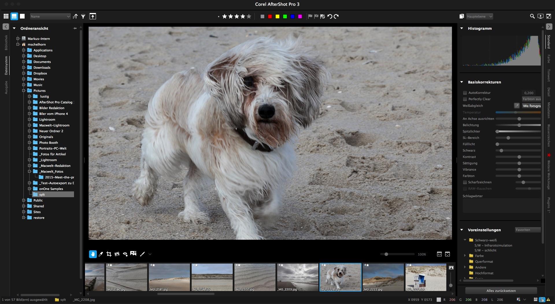 Corel Aftershot Pro 3 versus Adobe Lightroom