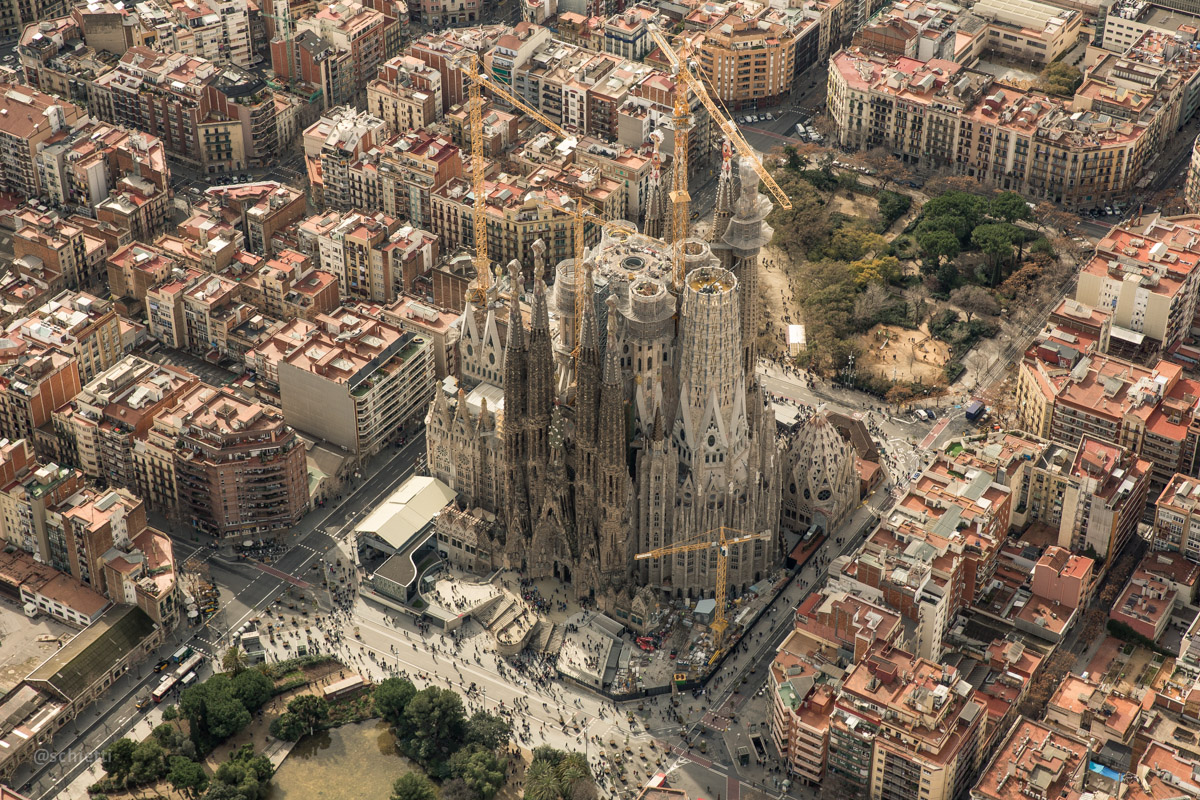 Barcelona von Oben ©Vitor Schietti