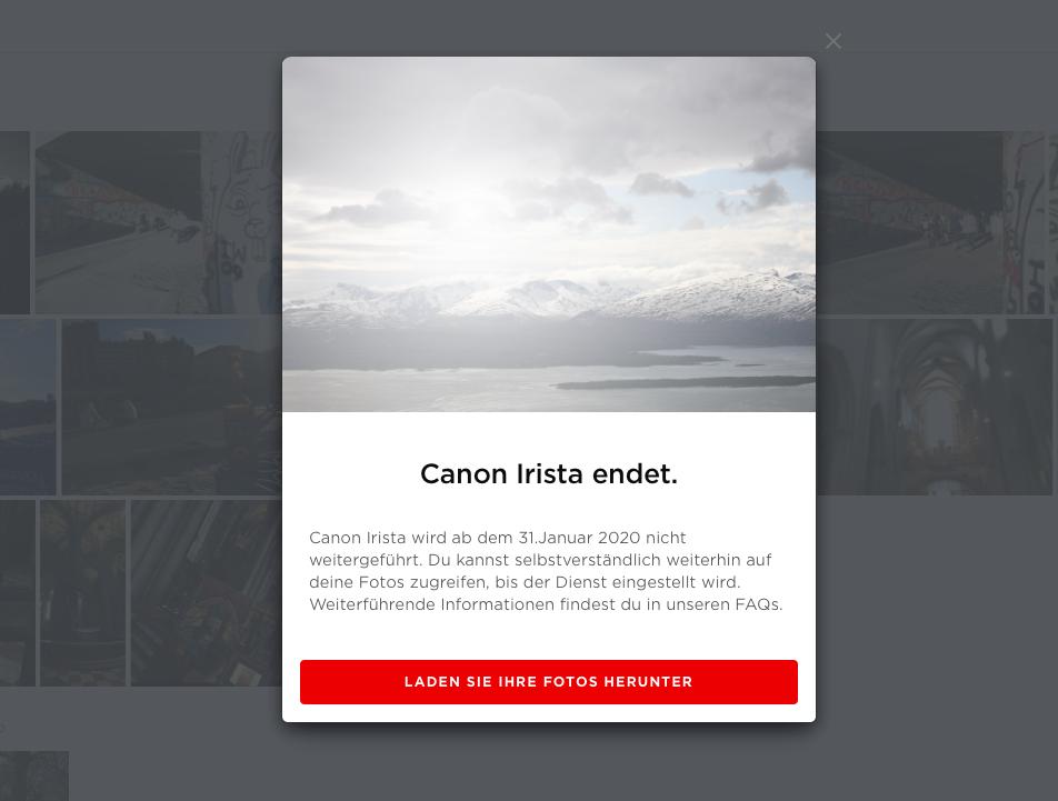 Canon Irista wird eingestellt