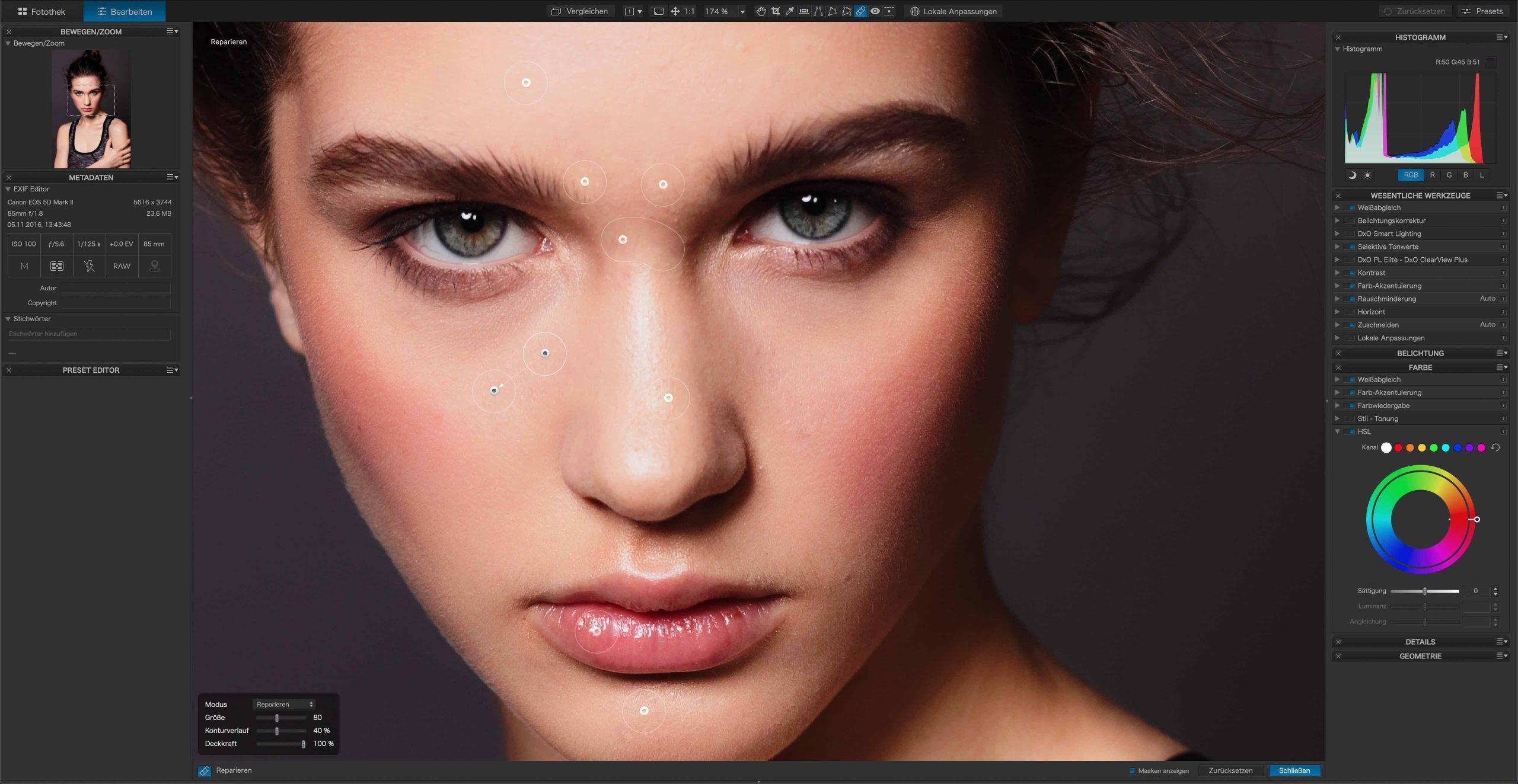 DxO PhotoLab 3 2 Korrekturpinsel Lightroom-Konkurrent