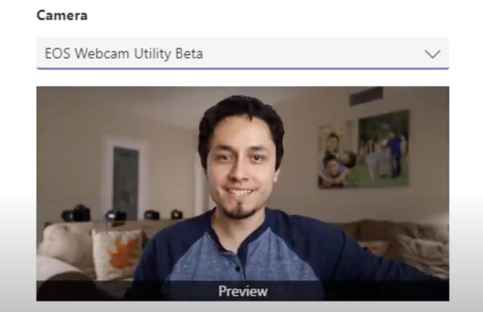 Screenshot Canon-Kamera als Webcam auswählen