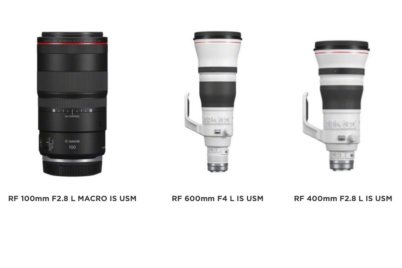 Drei Canon-Objektive für das RF-Bajonett der spiegellosen EOS-R-Serie @Canon