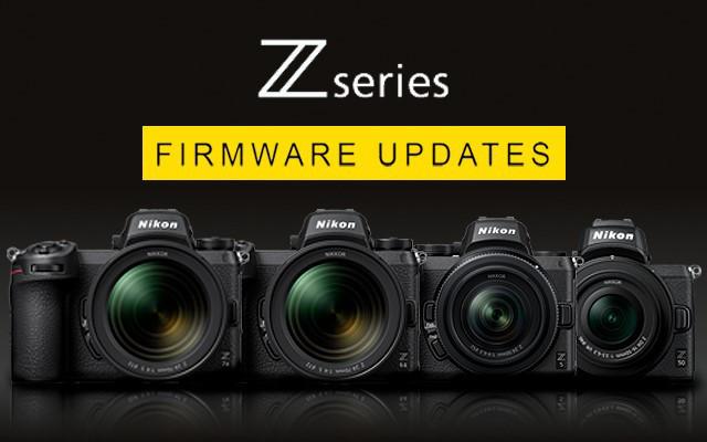 Symbolbild mit drie Kameras nebeneinander angeordnet zu Firmware-Updates für die Z-Serie