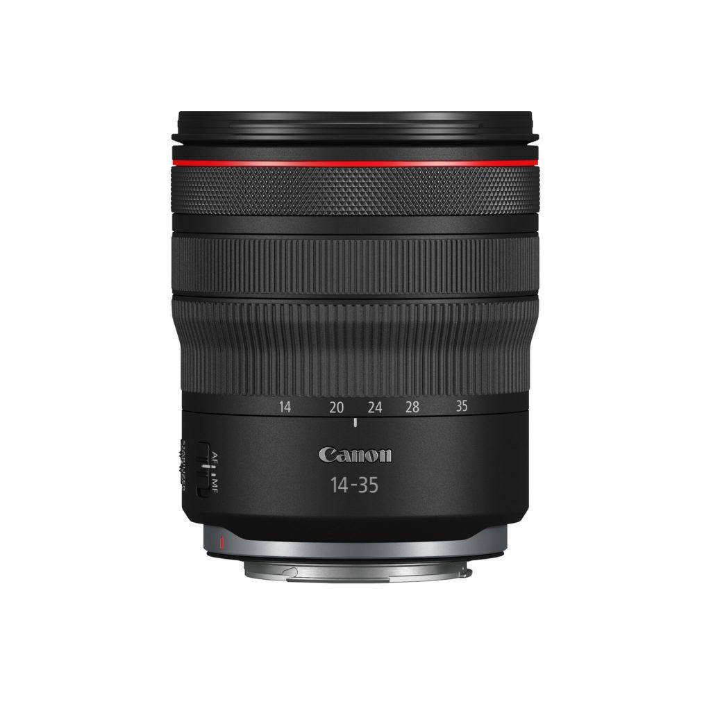 Canon RF 14-35mm F4 L IS USM vor weißem Hintergrund