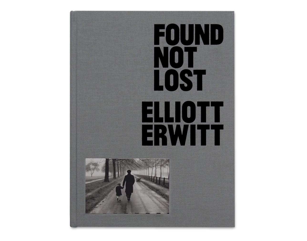 Buchcover von vorne auf weißem Hintergrund vom Bildband Found, nit lost von dem Fotografen Elliot Erwitt
